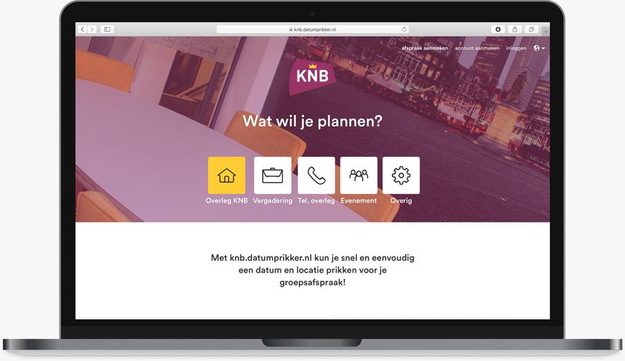 een gepersonaliseerde zakelijke datumprikker - datumprikker.nl